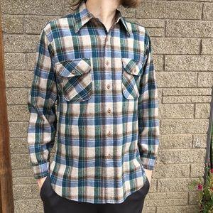 Vintage Pendleton 100% Wool Flannel